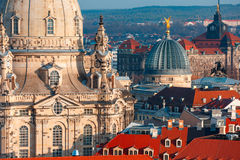 Aerial view of domes and roofs Dresden, Germany Stock Photography