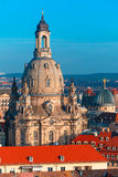 Aerial view of domes and roofs Dresden, Germany Royalty Free Stock Photography