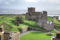 Aerial view from Dover castle Royalty Free Stock Photo