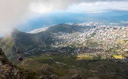 Aerial view on downtown area of Cape Town, South Africa Stock Photos