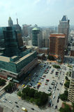 Aerial view of Downtown Baltimore Stock Photos