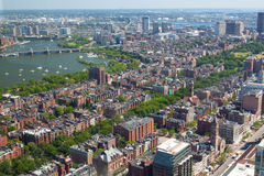 Aerial view of downtown Boston Prudential Tower,USA Royalty Free Stock Image
