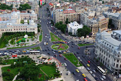 Aerial view of the downtown of Bucharest stock photography