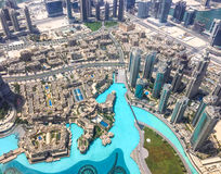 Aerial view of Downtown Burj Dubai Stock Photo