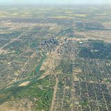 Aerial view of downtown Calgary Alberta Stock Image