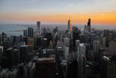 Skyscrapers and modern buildings of Chicago Skyline Stock Image