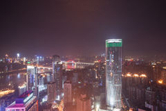 Aerial view of the downtown in Chongqing Royalty Free Stock Image