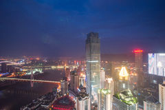 Aerial view of the downtown in Chongqing Stock Photography