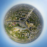 Aerial view of downtown. Crossroads, houses Royalty Free Stock Image