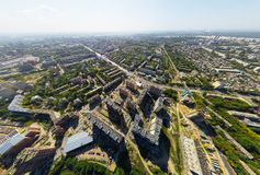 Aerial view of downtown. Crossroads, houses Royalty Free Stock Photography