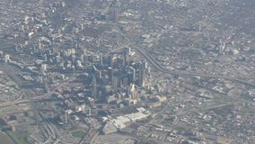 Downtown Dallas aerial view stock video