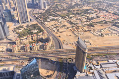 Aerial view of Downtown Dubai Stock Photography