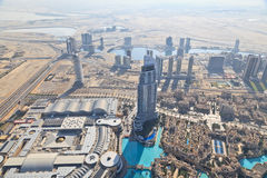 Aerial view of Downtown Dubai Stock Images