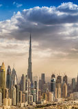 Aerial view of Downtown Dubai Royalty Free Stock Photography
