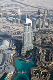 Aerial view of downtown Dubai UAE. During the day Stock Image