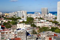 Aerial View of Downtown Havana, Cuba Royalty Free Stock Image