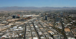 Aerial View of Downtown Las Vegas, Nevada Royalty Free Stock Photo