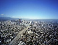 Aerial View of Downtown Los Angeles Royalty Free Stock Photos