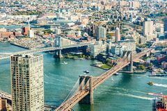 An aerial view of DUMBO Brooklyn. stock photography