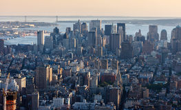 Aerial view of Downtown Manhattan, NYC. Stock Photo