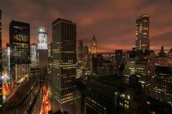 Aerial View of Downtown Manhattan Stock Photos