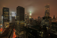 Aerial View of Downtown Manhattan Royalty Free Stock Photography
