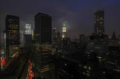 Aerial View of Downtown Manhattan Royalty Free Stock Photo