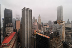 Aerial View of Downtown Manhattan Royalty Free Stock Image