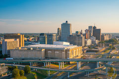 Aerial view of downtown Memphis Royalty Free Stock Photos
