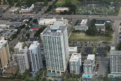 Aerial view of downtown Myrtle Beach, taken during helicopter ride. South Carolina stock photography