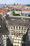 Aerial view of downtown and Neues Rathaus Stock Image