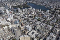 Aerial View of Downtown Oakland California Royalty Free Stock Photo