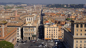 Aerial View of Downtown Rome, Italy Royalty Free Stock Photography