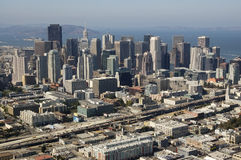 Aerial view of Downtown San Fr Stock Photography