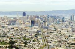 Aerial view of Downtown San Francisco Stock Photos