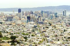 Aerial view of Downtown San Francisco Royalty Free Stock Images