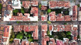Downtown Sofia Bulgaria with amazing red roofs. Aerial view of downtown Sofia Bulgaria with amazing red roofs stock footage