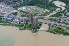 Aerial view of downtown Toronto Stock Photos