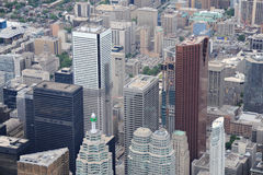 Aerial view of downtown Toronto Royalty Free Stock Images