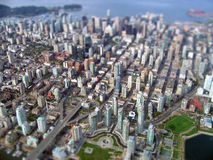 Aerial view of Downtown Royalty Free Stock Images