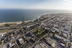 Aerial View of Downtown Ventura California Coast Royalty Free Stock Photo