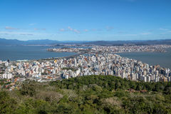 Aerial view of Dowtown Florianopolis City - Florianopolis, Santa Catarina, Brazil Stock Photography