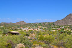 Aerial View of Dream Homes in Scottsdale, Arizona USA stock photography