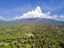 Aerial view from drone, North of Bali - Pemuteran, Jungle and mountains.  Stock Image