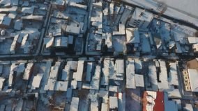 White roofs with snow royalty free stock photos