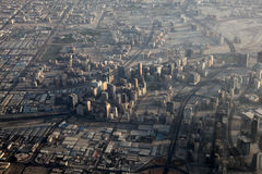 Aerial view of Dubai Royalty Free Stock Photography