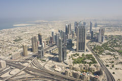 Aerial view of Dubai Royalty Free Stock Photos