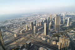 Aerial view Dubai Royalty Free Stock Photo