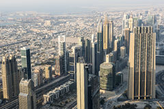 Aerial view Dubai royalty free stock image