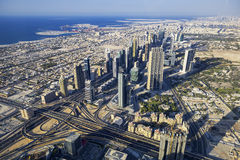 Aerial view of Dubai city Royalty Free Stock Images